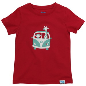 IceDrake Kinder T-Shirt Affe, Giraffe (rot) - IceDrake