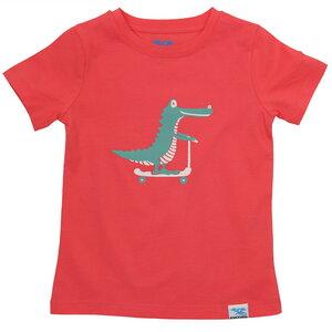 IceDrake Kinder T-Shirt Krokodil (koralle) - IceDrake