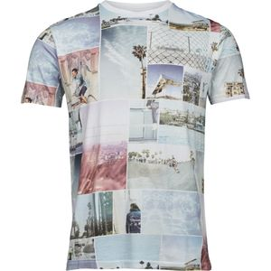 T-shirt with all over photo print - Bright White - KnowledgeCotton Apparel