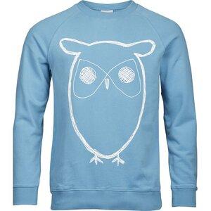 Sweatshirt With Owl Print - Niagara - KnowledgeCotton Apparel