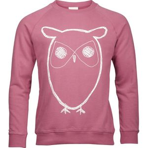Sweatshirt With Owl Print - Malaga - KnowledgeCotton Apparel