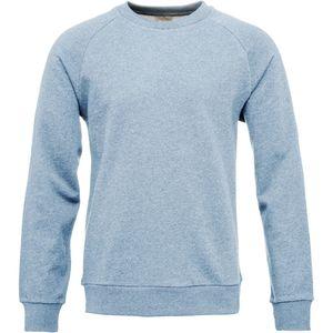 Sweat melange with raglan - Blue melange - KnowledgeCotton Apparel