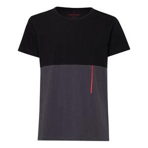 TT65 T-Shirt Schwarz/Dunkelgrau Bio Fair - THOKKTHOKK