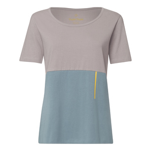 TT64 T-Shirt Damen Grau/Hellblau Bio Fair - THOKKTHOKK