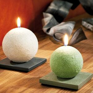 Kerzenuntersetzer Schiefer - werk|inklusivo