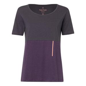 TT64 T-Shirt Damen Dunkelgrau/Violett Bio Fair - THOKKTHOKK