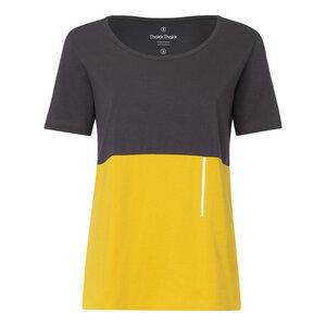TT64 T-Shirt Damen Dunkelgrau/Gelb Bio Fair - THOKKTHOKK