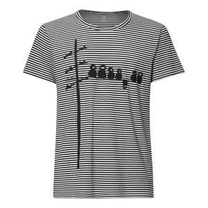 FellHerz Make Some Noise T-Shirt b&w stripes - FellHerz