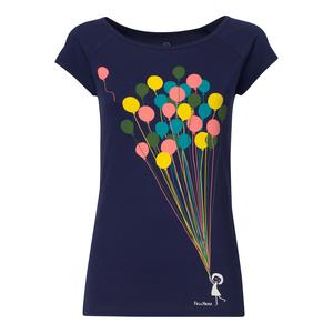 FellHerz Balloons Cap Sleeve T-Shirt Damen dunkelblau Bio Fair - FellHerz