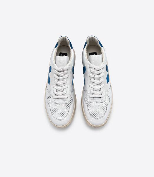 veja sneaker v 10 leather extra white swedish blue avocadostore. Black Bedroom Furniture Sets. Home Design Ideas