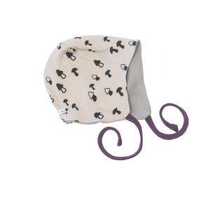 Babymütze zum Wenden Pilze/Grau - Pitupi