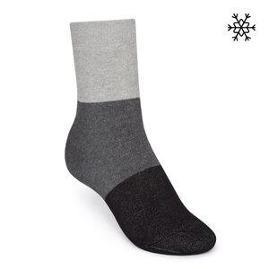 Plüsch Socken Triple High-Top grau/anthrazit/schwarz Bio & Fair - THOKKTHOKK