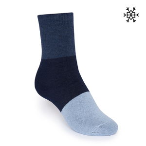 Plüsch Socken Triple High-Top blau/navy/hellblau Bio & Fair - THOKKTHOKK