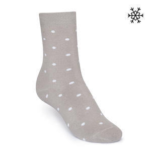 Plüsch Socken Dotties High-Top  grau/weiß Bio & Fair - THOKKTHOKK