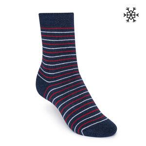 Plüsch Socken Striped High-Top blau/rot/weiß Bio & Fair - THOKKTHOKK