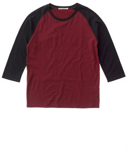 Nudie Jeans Abbe Quarter Sleeve Mantle Red/Blac - Nudie Jeans