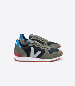 HOLIDAY LOW TOP CANVAS BLACK OLIVE OXFORD GREY - Veja