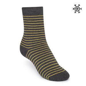 Plüsch Socken Striped High-Top gelb/dunkelgrau Bio & Fair - THOKKTHOKK