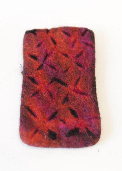 Iphone-hülle Aus Filz Mit Ausgestanztem Muster