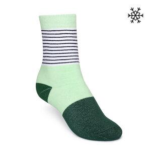 Plüsch Socken Micro Stripes High-Top mint/gestreift/grün Bio & Fair - THOKKTHOKK