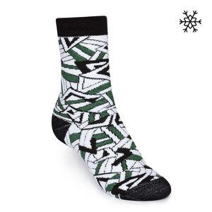 Plüsch Socken Crystal High-Top schwarz/weiß/grün Bio & Fair - THOKKTHOKK