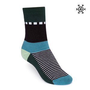 Plüsch Socken Nizza High-Top petrol Bio & Fair - THOKKTHOKK