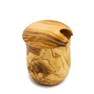 Olivenholz Honigtopf Honigbehälter mit Deckel ohne Honiglöffel - NATUREHOME
