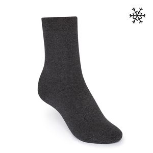 Plüsch Socken Solid High-Top dunkelgrau melange Bio & Fair - THOKKTHOKK