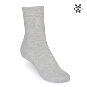 Plüsch Socken Solid High-Top grau melange Bio & Fair - THOKKTHOKK