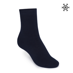 Plüsch Socken Solid High-Top navy Bio & Fair - THOKKTHOKK