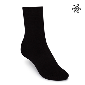 Plüsch Socken Solid High-Top schwarz Bio & Fair - THOKKTHOKK