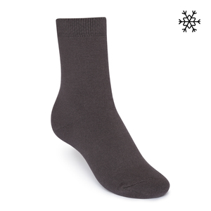 Plüsch Socken Solid High-Top dunkelgrau Bio & Fair - THOKKTHOKK