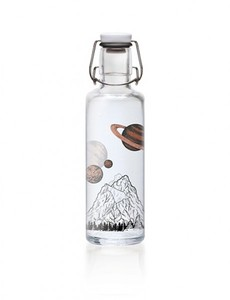 Soulbottles Trinkflasche Glas 600ml - Motiv the sky is not the limit - soulbottles