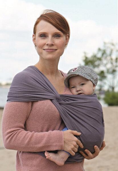 Neu -Babytragetuch Manduca Sling Slate 100 % Bio Baumwolle