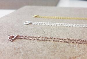 Zarte Halskette aus 925er Sterling Silber - Roségold doubliert - LUXAA
