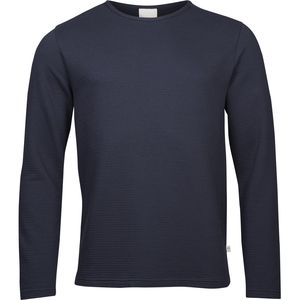 Solidcolor jaquard sweat - Total Eclipse - KnowledgeCotton Apparel
