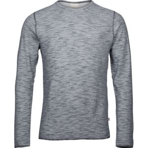 Doublelayer striped sweat - Total Eclipse - KnowledgeCotton Apparel