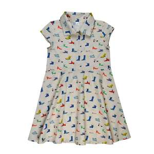 Retro Kurzarm Shirtdress shoes - Baba Babywear