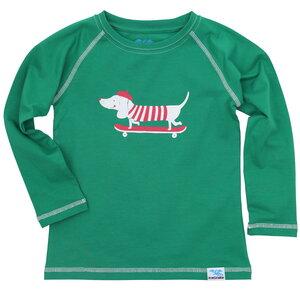 IceDrake Kinder Langarm-Shirt Dackel (grün) - IceDrake
