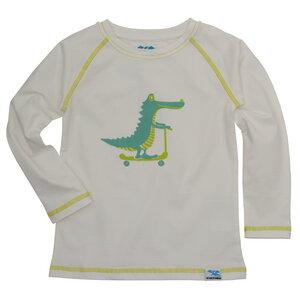 IceDrake Kinder Langarm-Shirt Krokodil (weiß) - IceDrake