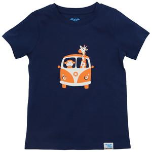 IceDrake Kinder T-Shirt Affe, Giraffe (dunkelblau) - IceDrake