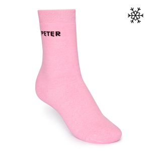 Plüsch Socken Peter High-Top rosa Bio & Fair - THOKKTHOKK