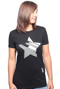 Damen T-Shirt mit Stern aus 100% Baumwolle (Bio) - YTWOO