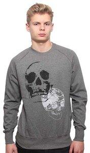 YTWOO Herren Sweatshirt aus 100% Baumwolle (Bio) mit Totenkopf, Skull  - YTWOO