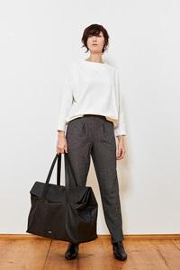 Shirt mit Falte aus zart gemusterter Bio-Baumwolle - LUXAA