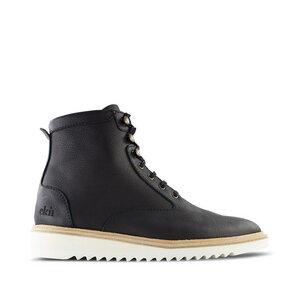 Desert High / Schwarzes Geöltes Glattleder / Ripplesohle - ekn footwear