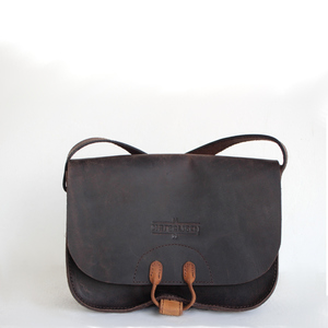 Leder-Tablet Satchelbag Satisch 2 antico brown - Margelisch
