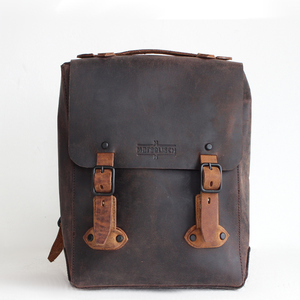 "12"" Laptop-Lederrucksack Lamar 1 antico brown - Margelisch"