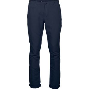Garment dyed chino pants - Total Eclipse - KnowledgeCotton Apparel