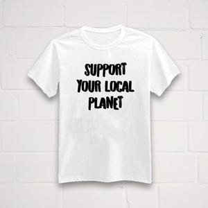 'Support your local planet' T-Shirt - Original Unverpackt